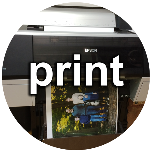 photo coming out of printer