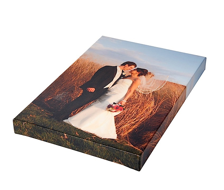canvas image wrapped around wooden frame